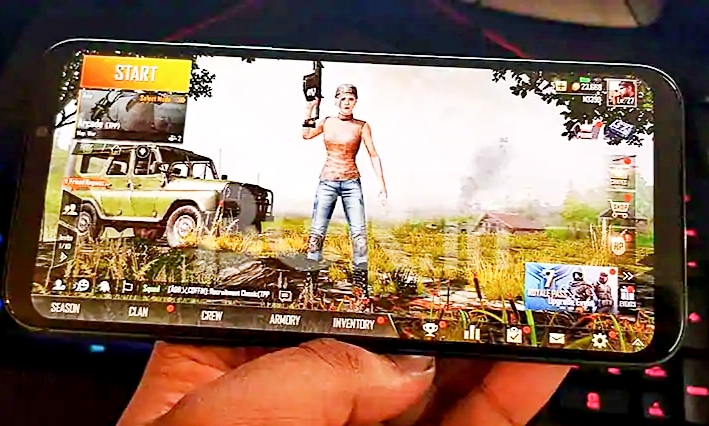 Pubg mobile games on mobile.